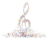 Multicolor musical note staff Royalty Free Stock Image