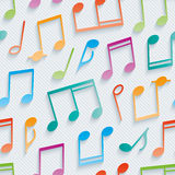 Multicolor musical wallpaper. Royalty Free Stock Photo