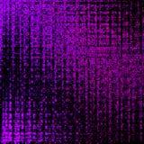 Multicolor neonowe rozjarzone cz?steczki na czarnym tle geometryczny wz?r royalty ilustracja