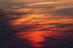 Multicolor niebo z różnic światłami Obrazy Royalty Free