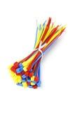 multicolor nylonties för kabel Arkivbilder