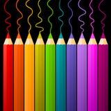 Multicolor ołówki Fotografia Stock