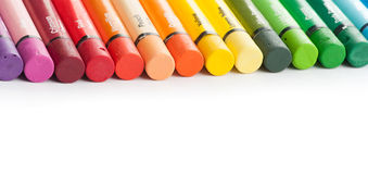 Multicolor oil pastels Stock Photography