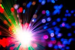 Multicolor optical fiber lighting Stock Photos