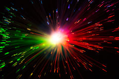 Multicolor optical fiber lighting Royalty Free Stock Photography