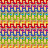 Multicolor ornamental seamless pattern Royalty Free Stock Photos