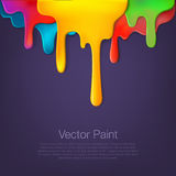 Multicolor paint dripping on background Royalty Free Stock Photos