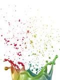 Multicolor paint splash Stock Image