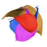 Multicolor paint splash Royalty Free Stock Image