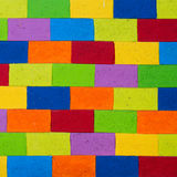 Multicolor painted brick wall texture Stock Photo