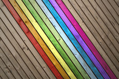 Multicolor painted wooden planks background Royalty Free Stock Photos