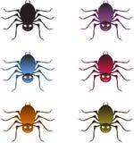 Multicolor pająki, pająk ilustracje Zdjęcie Stock