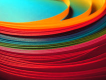 Multicolor paper rainbow background Stock Photos