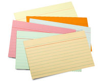 Multicolor paper sheet line (clipping path) Stock Photo