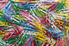 Multicolor paperclip Royalty Free Stock Image
