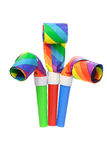 Multicolor party blowers Stock Image
