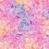 Multicolor Pattern Doodles- Decorative Sketchy Royalty Free Stock Images