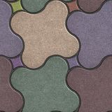 Multicolor Paving Stone as Quatrefoil. Stock Images