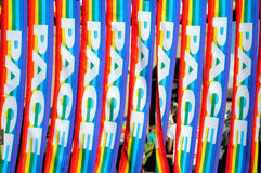 Multicolor peace scarf Stock Photo