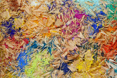 Multicolor pencil shavings. Background full frame Stock Images