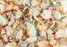 Multicolor pencil shavings Royalty Free Stock Photos