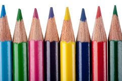Multicolor pencils Stock Photos