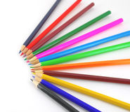 Multicolor pencils Royalty Free Stock Photos