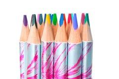 Multicolor pencils closeup Royalty Free Stock Photos