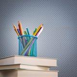 Multicolor pencils set Royalty Free Stock Photos