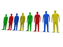 Multicolor people #1 vector illustration