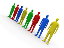 Multicolor people #2 Royalty Free Stock Photography