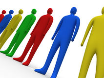 Multicolor people #3 Royalty Free Stock Image