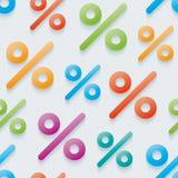 Multicolor percent symbols wallpaper. Royalty Free Stock Images