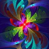 Multicolor piękny fractal kwiat. royalty ilustracja