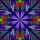 Multicolor piękny fractal w witrażu okno stylu. Comp royalty ilustracja