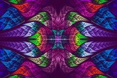 Multicolor piękny fractal wzór ilustracji
