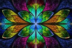 Multicolor piękny fractal wzór. Komputer wytwarzająca grafika ilustracja wektor
