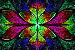 Multicolor piękny fractal wzór. Komputer wytwarzająca grafika royalty ilustracja