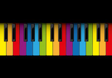 Multicolor piano roll Royalty Free Stock Images