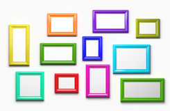 Multicolor picture frames Stock Photography