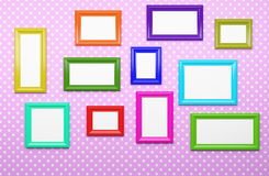 Multicolor picture frames Royalty Free Stock Photo