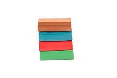Multicolor plastelina bloki odizolowywający Fotografia Stock