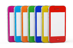 MultiColor plastic cases mobile phones Stock Photography
