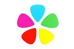 Multicolor plastic guitar plectrums Royalty Free Stock Image