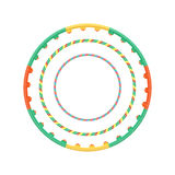 Multicolor plastic hula hoop set vector illustration Stock Images