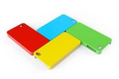 MultiColor plastic mobile phone cases Stock Photo