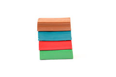 Multicolor plasticine blocks isolated Stock Photography