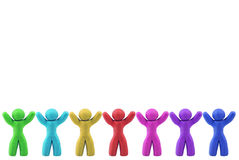 Multicolor Plasticine human Stock Photography