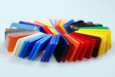 Multicolor plastics stock photos