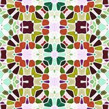 Multicolor podłogowa ornamentu kalejdoskopu wzoru tekstura ilustracja wektor